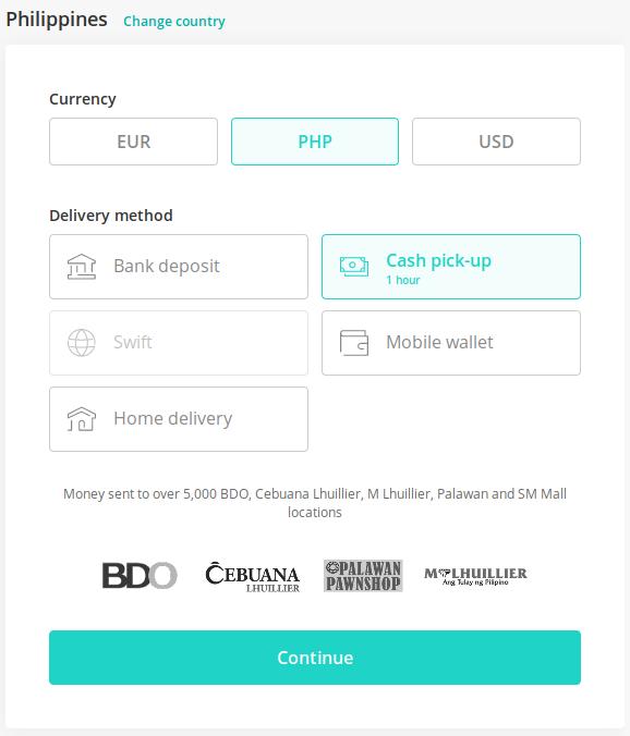 send money to philippines