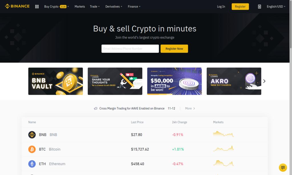 binance.com platform