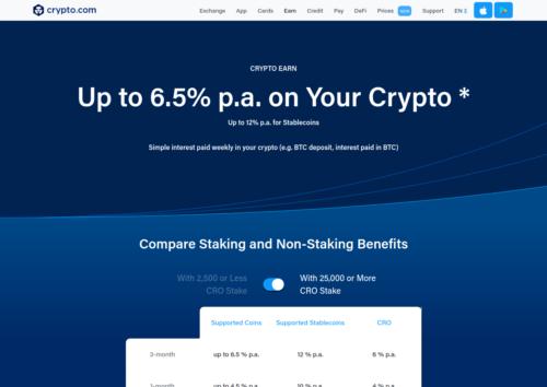 High interest at Crypto.com