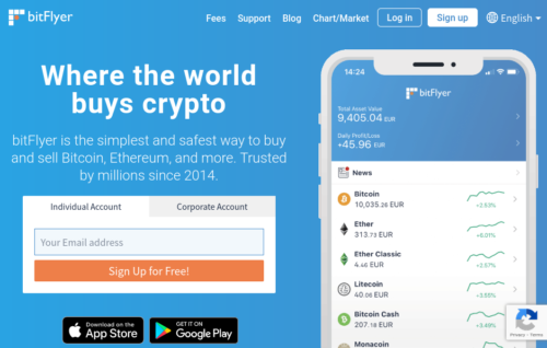 BitFlyer Bitcoin payout exchange