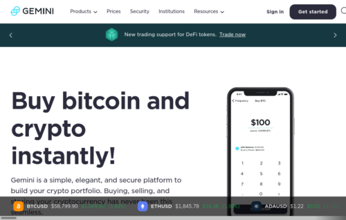 Gemini Bitcoin payout exchange