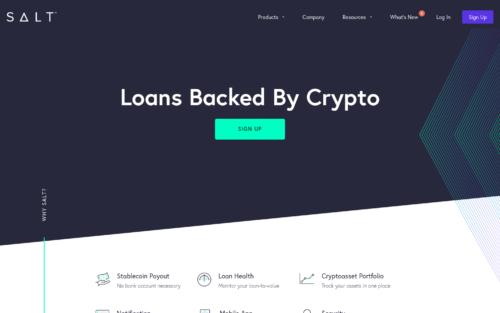 SaltLending crypto-backed loans